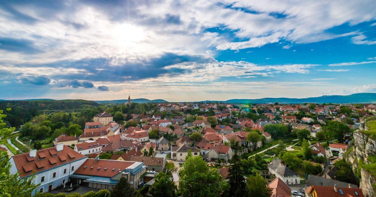 小さな町の写真