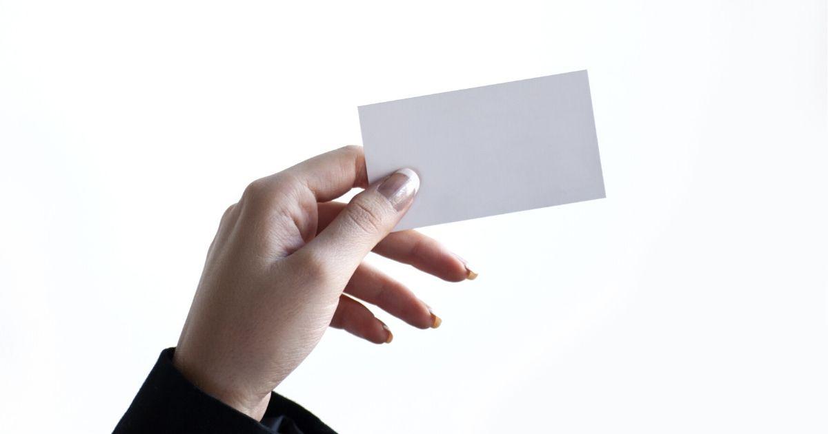カードを使う写真