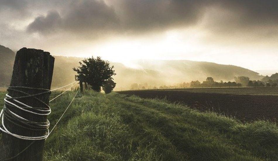 田舎の広大な土地の写真