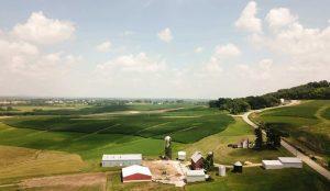 田舎の町の風景の写真