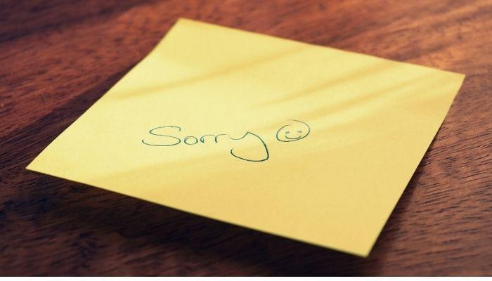 謝罪文の写真
